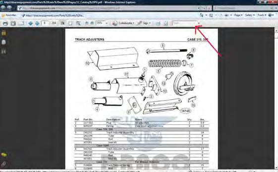 In the little box labeled FIND (See Red Arrow) Type in your OEM part number, and press