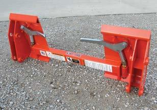 Allows use of skid steer type attachments (shipped less pins). Weight 148 lbs.