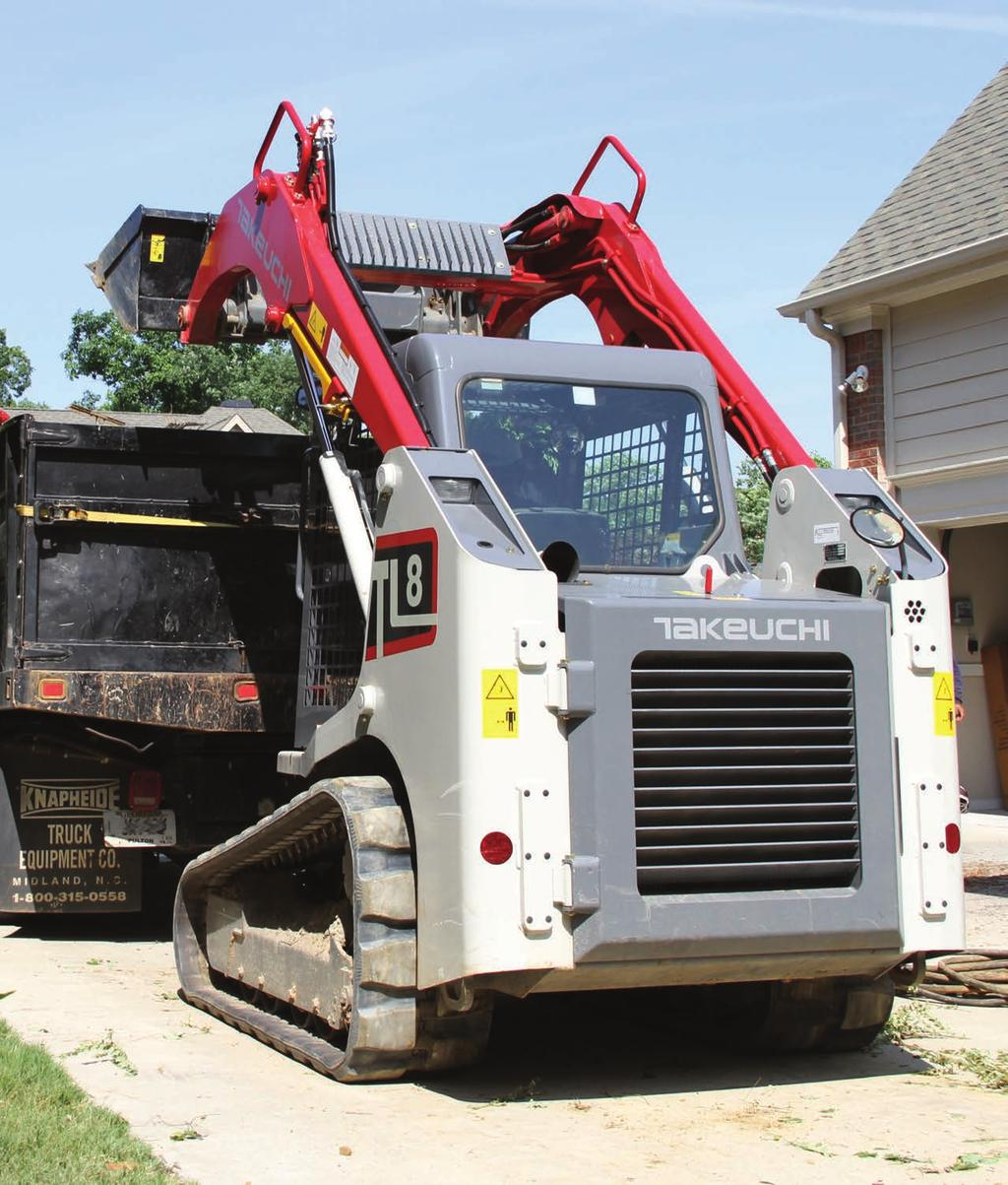 Wheel Loaders 2016 Takeuchi Manufacturing (U.S.), Ltd. All Rights Reserved. Printed in the U.S.A. In accordance with our established policy of continued improvement, specifications and features are subject to change without notice.