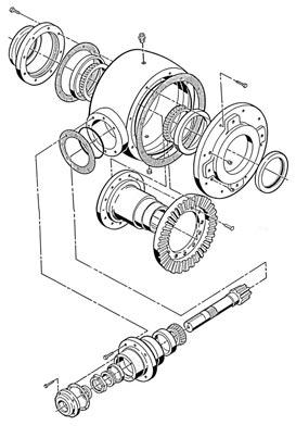 GROUP Models M2 and M. GROUP Models AD1, AD2, AD, AD & AD. NOTE: For PINION SHAFT disassembly instructions for Models and 00, follow the Group 2 instructions.
