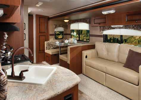 these 5 remarkable floorplans. SOLAIRE SEVENS 28 QBSS IN TOFFEE This sleek yet strong and graceful design allows for easy towability and exceptional rear visibility.