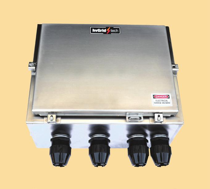 Non-Submersible ing Boxes Single phase direct grounding boxes with disconnecting link are used in conjunction with terminations to ground the cable sheath.