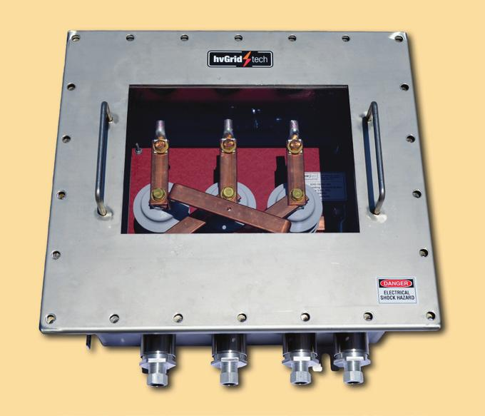 Submersible ing Boxes Three phase direct grounding boxes with disconnecting links are used in conjunction with terminations and splices to ground the cable sheath.