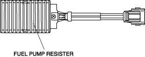 FUEL PUMP RESISTOR INSPECTION Resistance Inspection 1. Disconnect the negative battery cable. (See BATTERY REMOVAL/INSTALLATION.) 2. Remove the fuel pump resister.