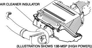 Air Cleaner Insulator Inspection 1.