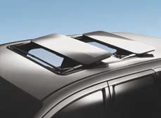 Convertible top material of durable vinyl, weather / UV resistant Programmable opening positions (DeLuxe model) Wind deflector for perfect aerodynamics Auto-Close system