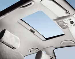 When closed, the tilt slide roof harmonises perfectly with the car when open it disappears into the roof lining.