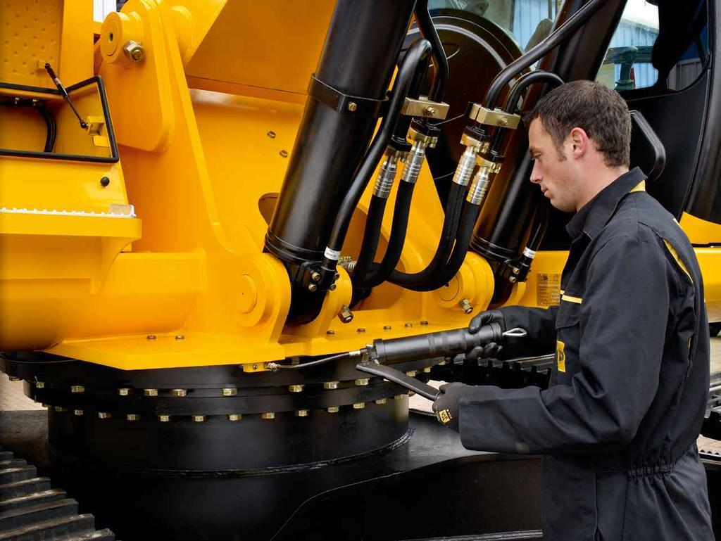 JCB LUBRICANTS GREASE JCB greases give high performance protection to hard working machinery Long life protection under extreme conditions Comprehensive range for all applications Optimise