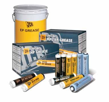 5kg, 50kg JCB Special MPL-EP Grease is a true multipurpose grease, recommended for a wide range of lubricating duties, such as pivot pins and wheel bearings, where excellent antiwear and antirust