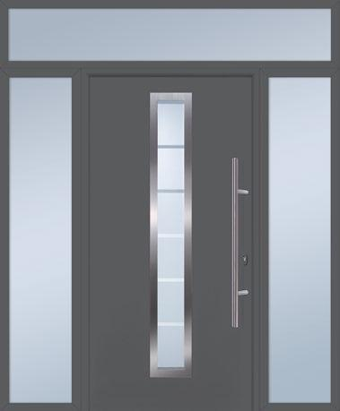 GARADOR Options Matching side elements and transom lights Each FrontGuard entrance door can be supplied with a matching side element