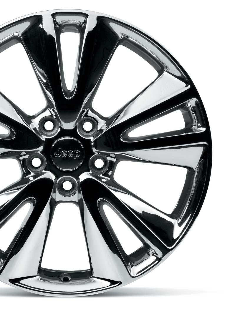 PERSONALIZATION 20 BI-COLORED ALLOY WHEEL With Jeep center cap. For all models except SRT. REF.