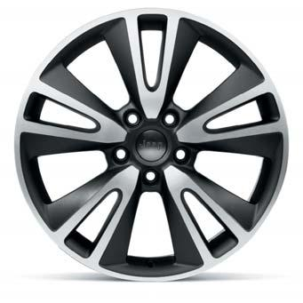 For all models except SRT. REF. K82212334 18 TEN SPOKE ALLOY WHEEL In bright silver with Jeep center cap.