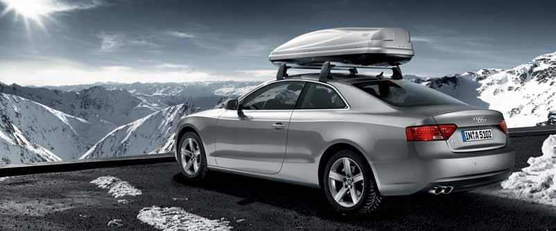 5 1 Kayak rack For a single-person kayak weighing up to 25 kg. For the A5 Coupé and A5 Sportback only.