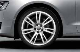 aluminium wheels, 7-double-spoke design, silver Set an unmistakeable accent to your Audi A5 due to the sharp design of this
