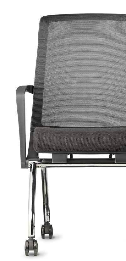 Comfortable mesh backs with lumbar support