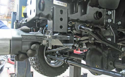On the 2007-09 models: Align the baseplate s lower hole with the existing lower hole in the frame, insure