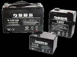 S Series (AGM) & G Series (Gel) VRLA Batteries 30 225 Ah (6 & 12 Volt Blocks) The sealed construction of the SBS VRLA series battery allows trouble-free, safe operation in any position.