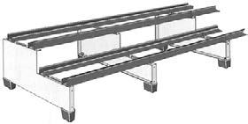 "BATTERY RACKS 46.85"" 2-Tier racks 11.22"" or 14.17"" wide 2-Step/2-Tier racks 19.69"" or 25."