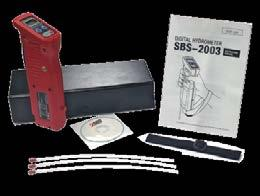 Hydrometer/Resistance Tester Package 3 Steps for Easy Data Management & Storage When combined with our SBS-6500 battery diagnostic tester, the SBS- 2003 provides an all-in-one solution for your