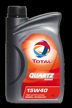 Smart, BMW and Mini. 22 TOTAL QUARTZ 5000 15W-40 has been developed for gasoline and diesel engines in passenger cars.