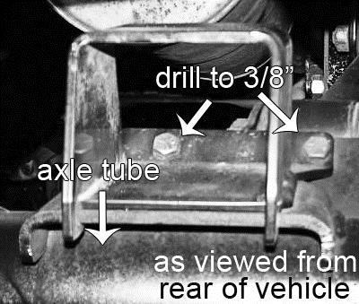 REAR PROCEDURE 7) PREPARE VEHICLE Before raising the rear of the vehicle: Disconnect the upper end of the track bar. Loosen, but do not remove, the track bar at the driver side axle mount.