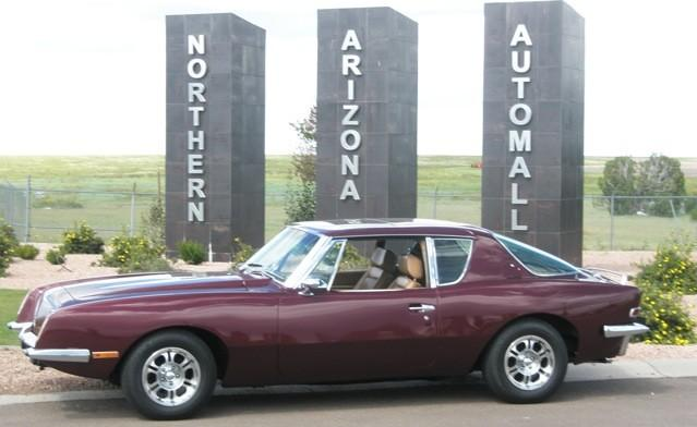 Chapter activities today, I drove our Avanti around town today. I took the attached picture at the entrance to the Northern Arizona Automall here in Show Low.