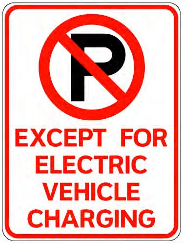 Supporting Efforts Adopted signage to keep internal combustion engine (ICE)