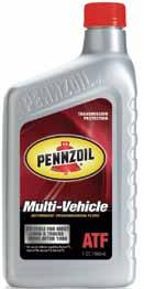 Automatic Transmission fluid Pennzoil transmission fluids are derived from premium base stocks and formulated with special friction modifiers to keep pace with the ever-growing demands of today s