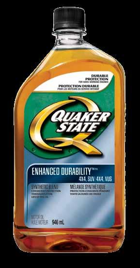 Passenger Car Motor oils Quaker State Enhanced Durability For 4x4, SUV synthetic Blend motor oils Quaker State Enhanced Durability motor oil, designed for 4X4s, SUVs and Crossovers, is so tough that,