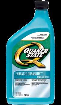 Passenger Car Motor oils Quaker State Enhanced Durablitiy Winter synthetic Blend motor oils Cold weather can be harsh on your engine and can create unnecessary strain on your battery.