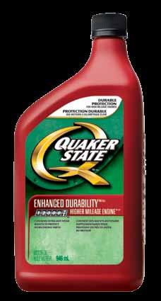 Compared to conventional motor oils, Quaker State Enhanced Durability Winter Synthetic Blend: Provides faster low temperature oil flow Provides easier start-up in cold weather, quicker heated cabin