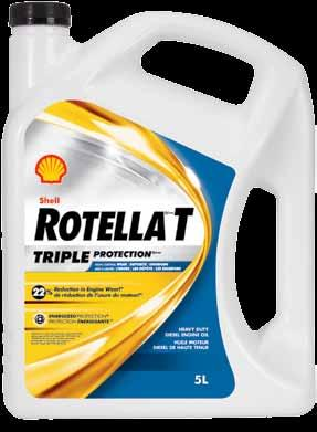 Shell rotella Shell Rotella T Triple Protection Heavy Duty Engine oil Shell Rotella T engine oil has been formulated to provide Triple Protection technology against wear, deposits and emissions.