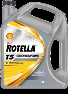 Shell rotella Shell Rotella T5 synthetic Blend Heavy Duty Engine oil Shell Rotella T5 Energized Protection oils use exclusive combinations of the latest high performance additives to help the oil