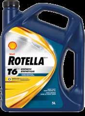 Shell rotella Shell Rotella T6 Full synthetic Heavy Duty Engine oil Shell Rotella T6 Energized Protection oil features advanced, multi-functional additive technology in full synthetic base oil