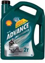 other shell products Shell Advance Premium Snowmobile Oil Shell Advance Premium Snowmobile Oil is a top performance, low smoke, low odour two cycle/stroke motor oil.