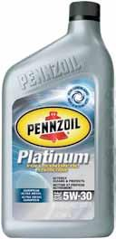 Passenger Car Motor Oil Pennzoil Platinum Keeps pistons up to 40% cleaner than the toughest industry standard 1 Plus Cleans out engine sludge better than Pennzoil Gold and Pennzoil conventional 2