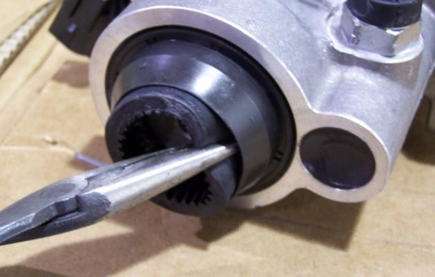 NOTE: The pilot bearing holes in some crankshafts are not sized consistently. The pilot bearing is designed to be a slight press fit in the bore.