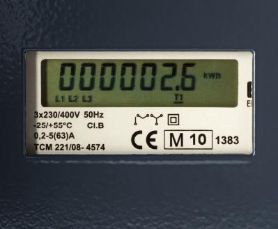 Certified metering of energy consumption A certified digital energy meter shows consumption [kwh] with high precision.