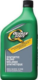 QUAKER STATE ENHANCED DURABILITY SYNTHETIC BLEND MOTOR OIL PREFERRED BY HARD-WORKING ENGINES Does your engine work so hard it needs its own punch card?
