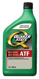 AUTOMATIC TRANSMISSION FLUID There are various OEM requirements for transmission fluids today, and Quaker State products are especially formulated to meet those needs.