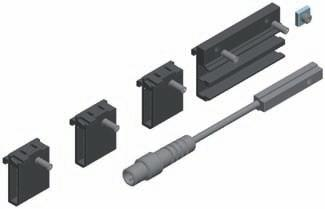 74 Bosch Rexroth AG R310EN 2602 (2007.02) Switch mounting arrangements Magnetic field sensor with plug With magnetic field sensors, switch activation is direct (without switching cam).