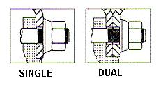 1.2.1 Installation Procedure of Wheel Hubs A typical assembly for a single and dual wheel assembly is shown in Figure 5.