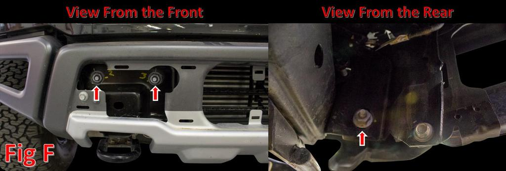 6. Remove the 21mm Nuts that hold on the bumper.
