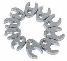 "97736 1-1/8"" 97738 1-3/16"" Model Size 97740 1-1/4"" 97744 1-1/2"" 97760 1-3/8"" 6 Piece Jumbo SAE Crowfoot Wrench Set > 1/2"" Drive >"