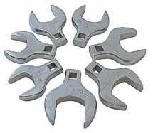 "8 Piece Jumbo Metric straight Crowfoot Wrench Set > 1/2"" Drive > Mounted on storage rail for convenience > Also available individually 9730 97324 24mm 97328 28mm 97325 25mm 97329 29mm 97326"