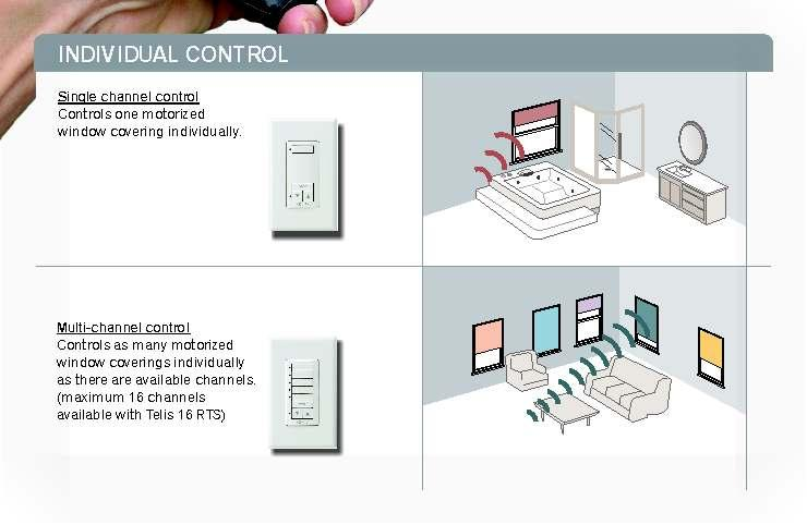 control Multi-channel control Wall Switches are Wireless Single