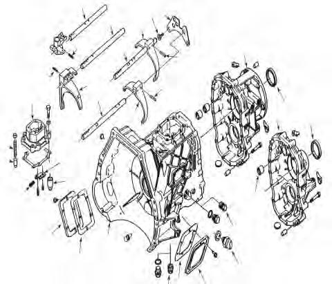 ZF S5-42 (ZF Design) Ford 796 070 280 997 920 281 074 ZF S5-42 A 843 926 921 628-1 929 922 B 486 978 756 837-2 837-2 843 628-4 628-2