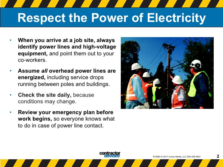 Respect the power of electricity. Follow some simple best practices before starting work.