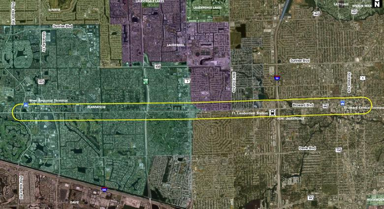 BACKGROUND AND PURPOSE OF THIS STUDY Broward Boulevard is one of the critical east/west connections between downtown Fort Lauderdale and the communities of Plantation, Lauderhill, and Fort Lauderdale.