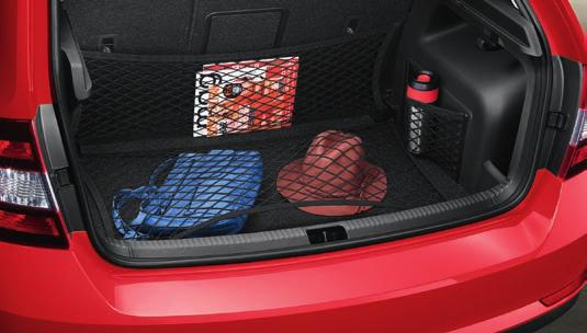 seating in the rear. CARGO ELEMENTS Any undesired movement of luggage while driving can be avoided with cargo elements.